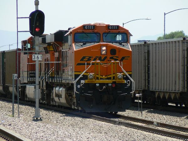 BNSF 6111 ES44AC - waits for crew in Denver