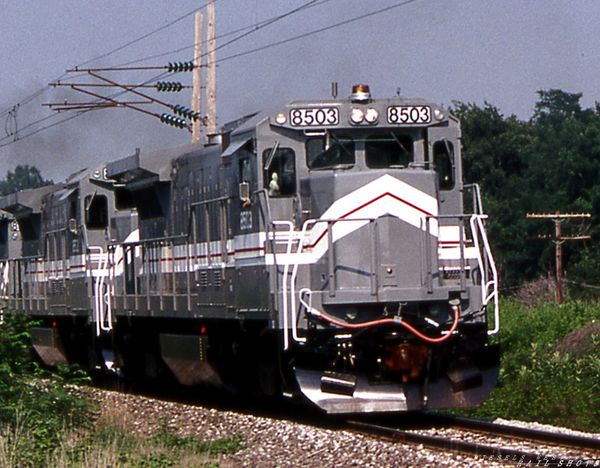 GE B23-7 #8503 GE test track Erie PA