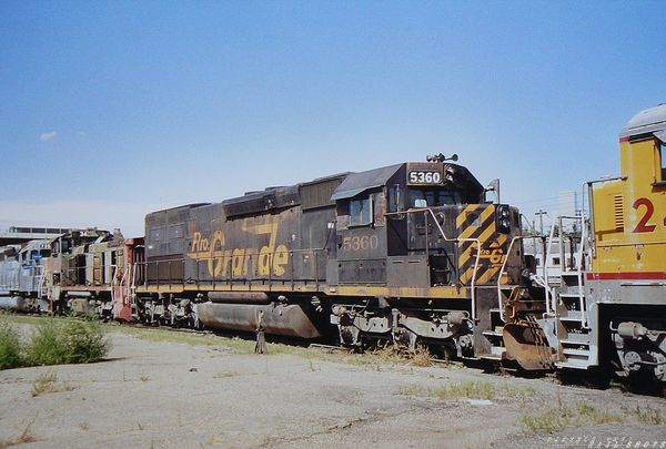 D&RGW 5360 (SD40T-2)  in Denver deadline