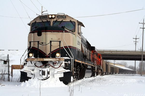 BNSF 9609..Pushing Snow View II