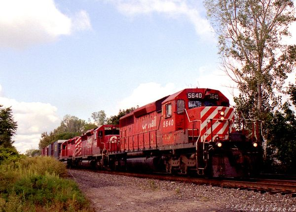 CP Rail SD40-2 #5640 Milepost 5 Buffalo Belt Line