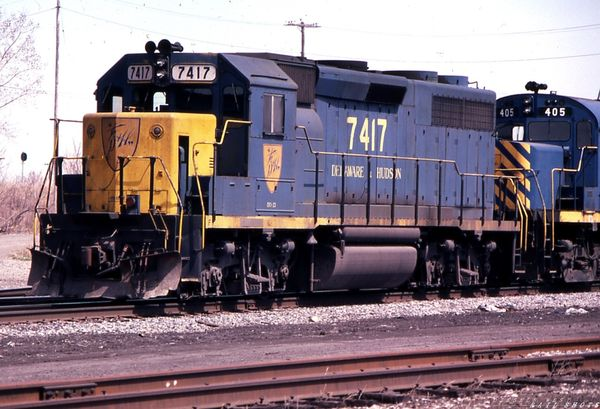 D&H GP39-2 #7417 William St Buffalo NY