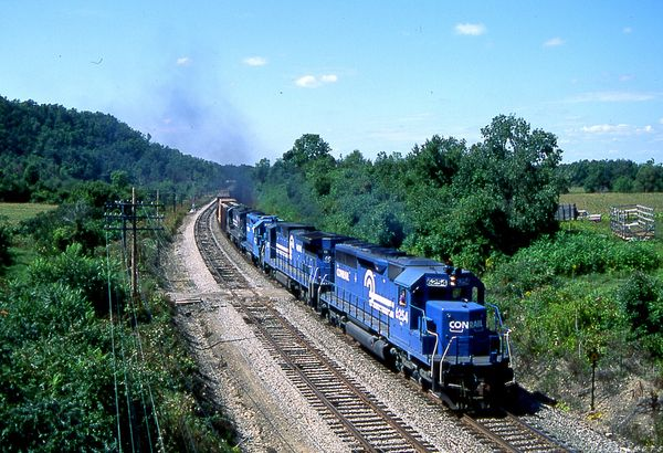 Conrail SD40 #6254 BUOI Hunt Hollow NY